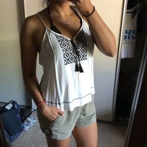 F21 Embroidered Tank Top